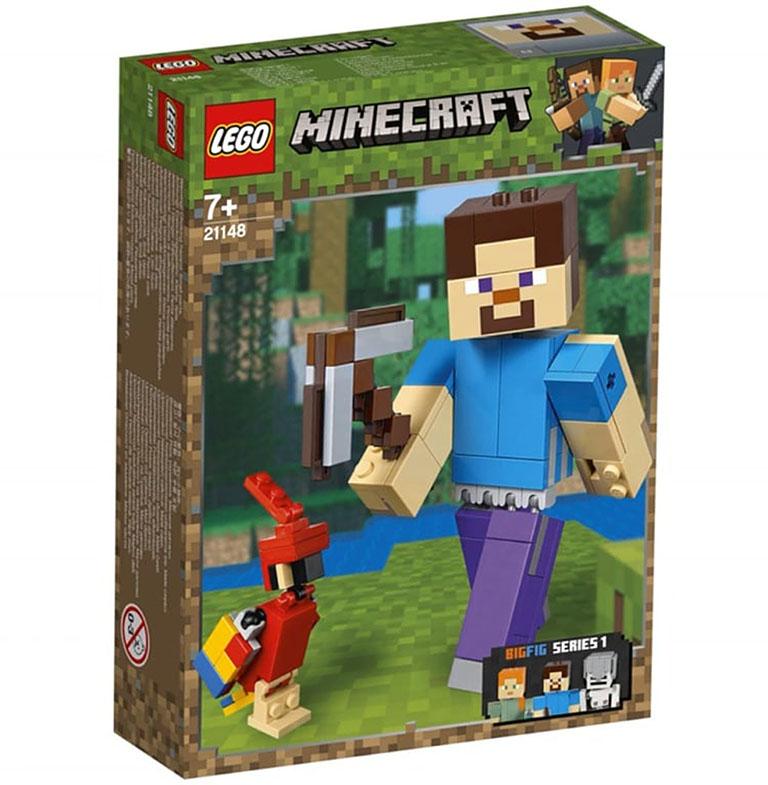 """21148 Конструктор LEGO Minecraft """"Большие фигурки: Стив с попугаем"""""""