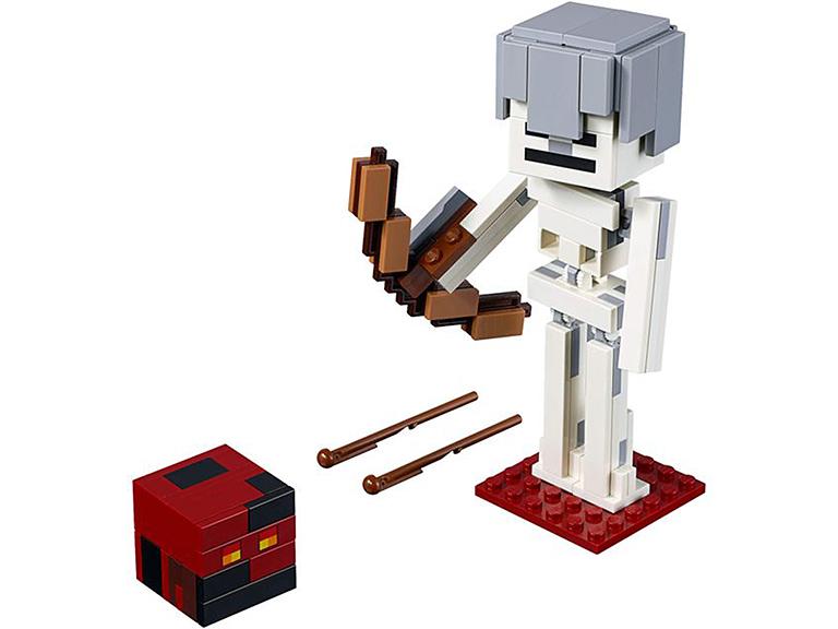 """21150 Конструктор LEGO Minecraft """"Большие фигурки: скелет с кубом магмы"""""""