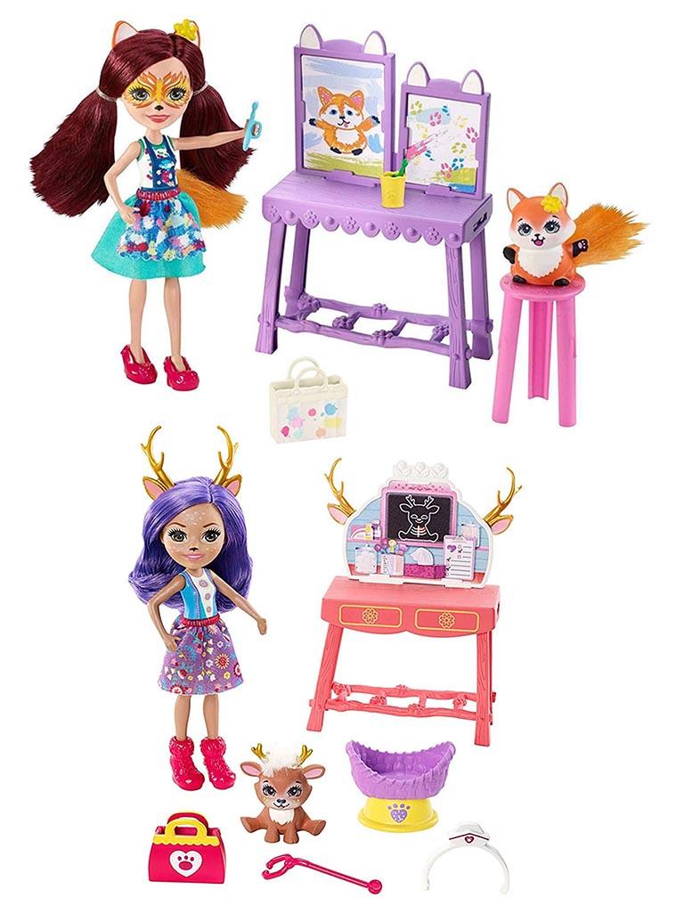 """FCC62 ENCHANTIMALS """"Кукла со зверюшкой и тематическим набором в ассорт."""""""