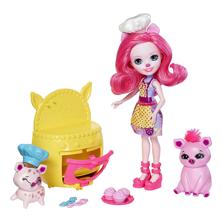 "FJJ28 Enchantimals Baking Buddies  Playset ""Веселая пекарня"""