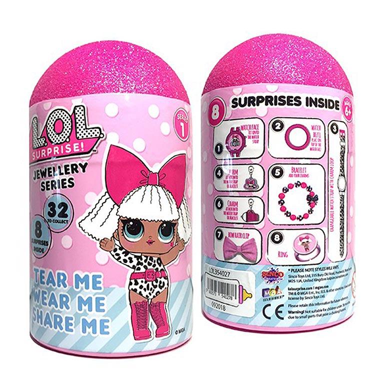 354027 Игрушка LOL  Набор украшений с часами для девочки