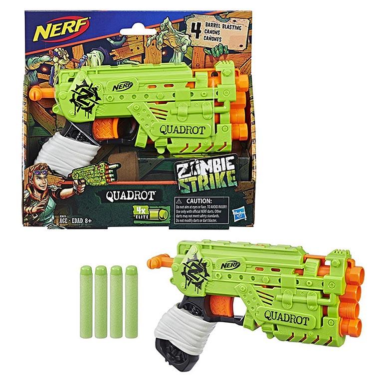 2673E Игровой набор бластер со стрелами Зомби Страйк Квадрот НЁРФ