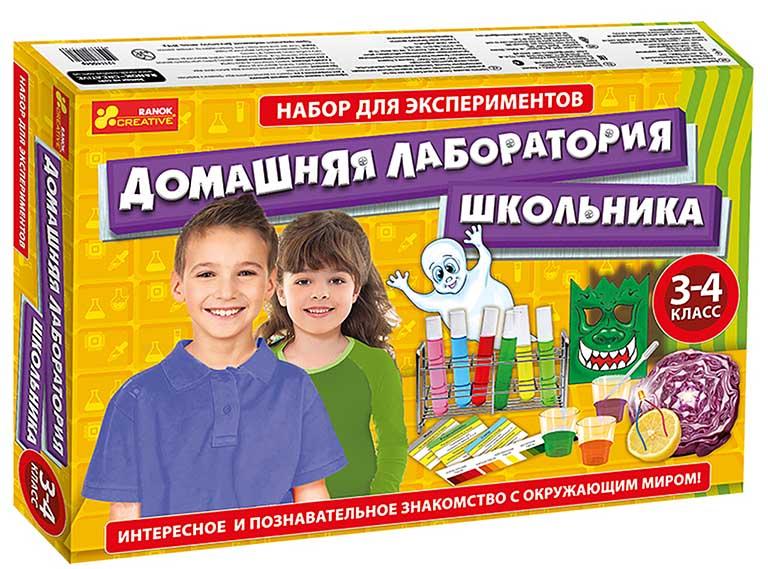"""12114064Р Набор для экспериментов 3-4кл. """"Домашняя лаборатория школьника"""""""