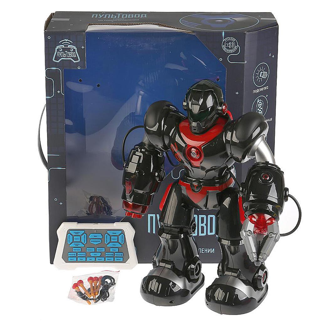 ZY829482 Робот р/у на аккум., свет+звук, usb з/у, озвуч. руссиф., с мягкими пулями на присосках