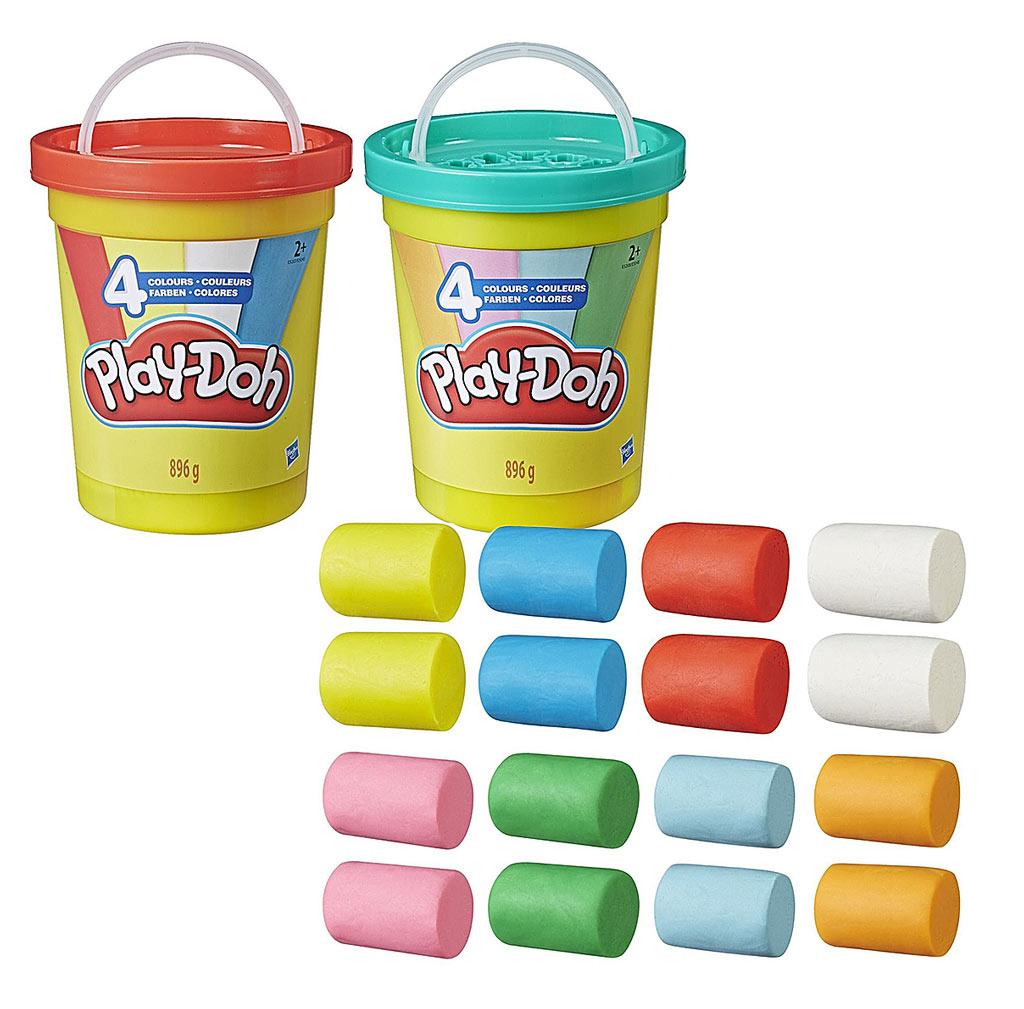 E5045EU4 Play-Doh Набор Большая банка 4 цвета в ассортименте