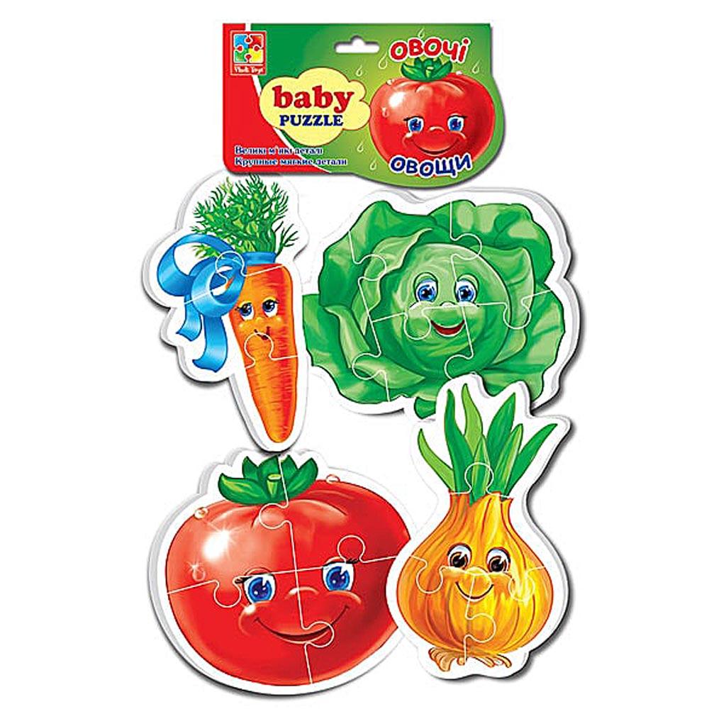 VT1106-03 Мягкие пазлы Baby puzzle Овощи