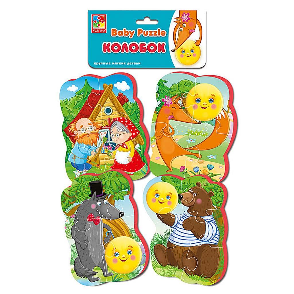 VT1106-62 Мягкие пазлы Baby puzzle Сказки Колобок