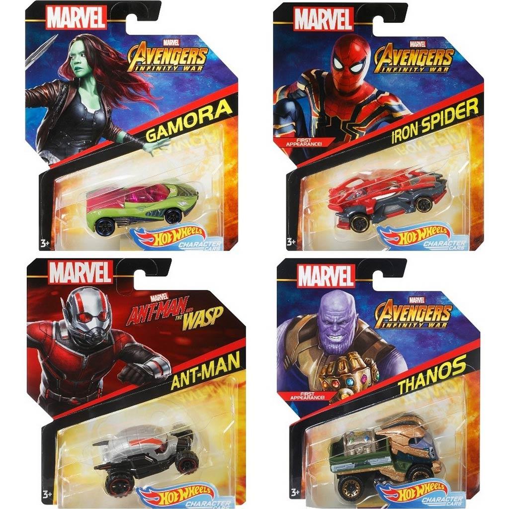 BDM71 HW Машинки героев Marvel в ассорт.
