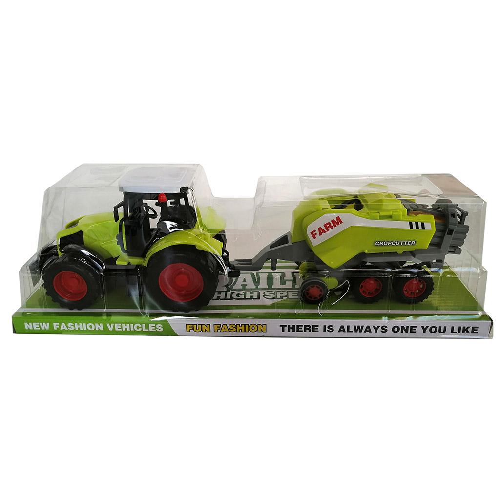 Трактор №666-156В инерционный/колпак/40*11*13
