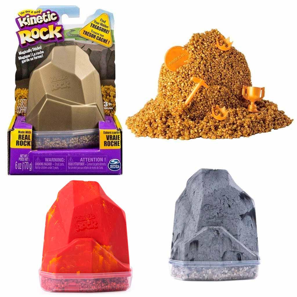 11302 Песок для лепки Kinetic Sand серия Rock. 170 грамм в контейнере. 1 цвет.