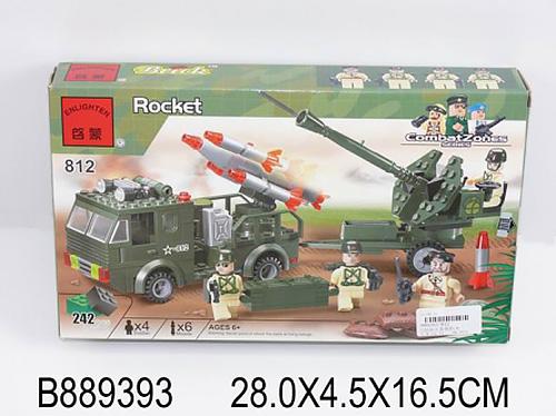 889393 Конструктор пластиковый. Ракетная установка (242 детали, 4 фигурки)