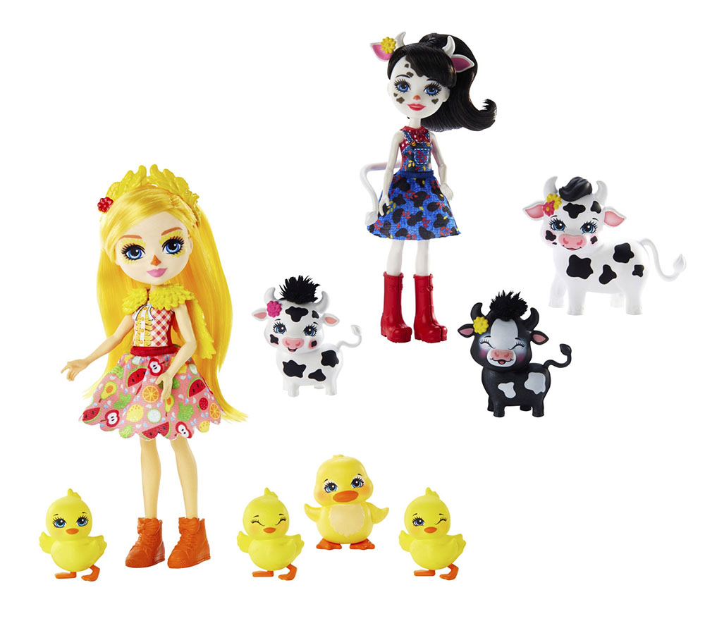 GJX43 Enchantimals® Кукла с 3+ зверушками в ассортименте