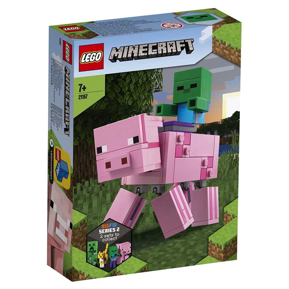 "21157 LEGO Minecraft ""Большие фигурки Minecraft: Свинья и Зомби-ребёнок"""