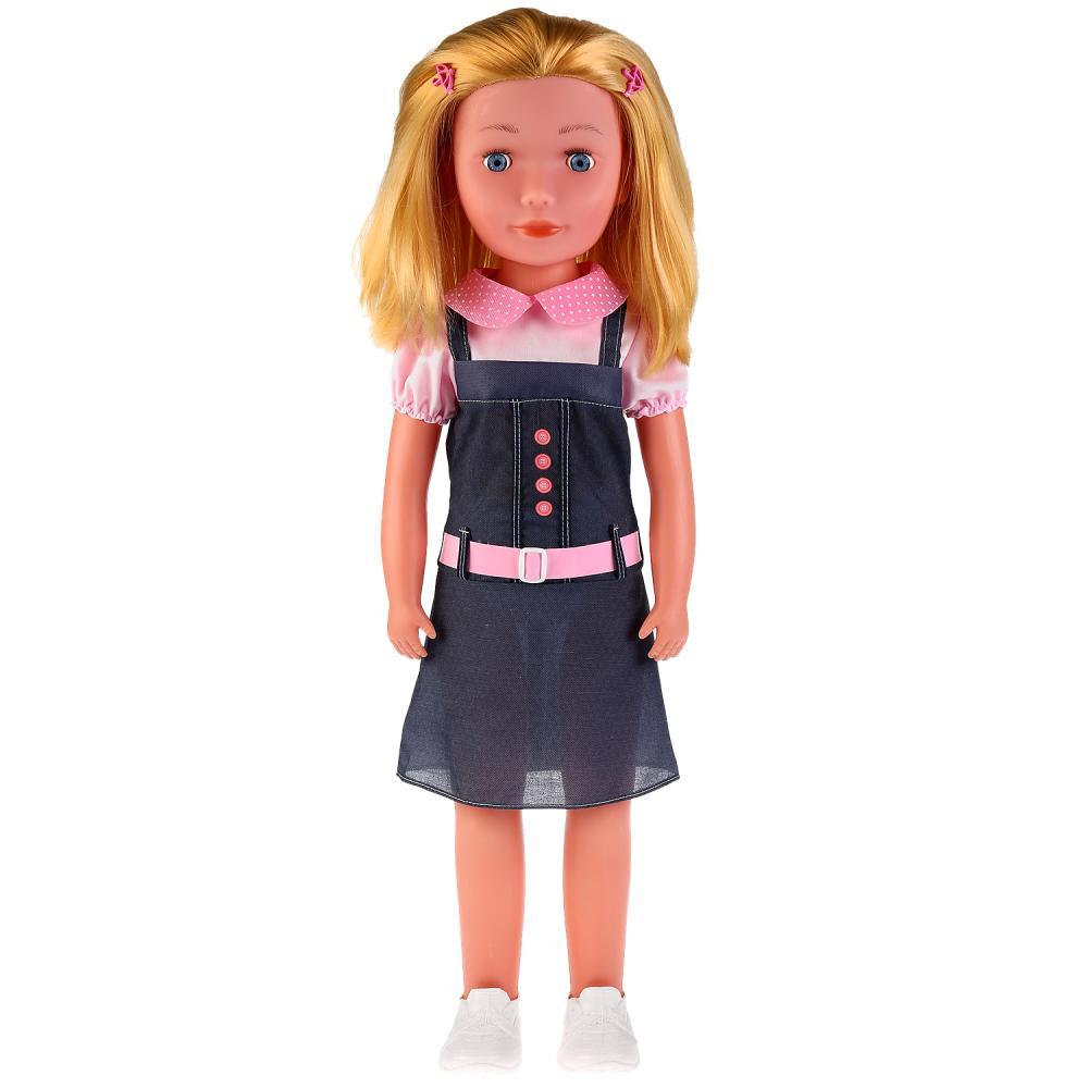 "87401-70-RU Кукла озвученная Кристина 70см, тв.тело, ходит за ручку, 100 фраз ""Карапуз"""
