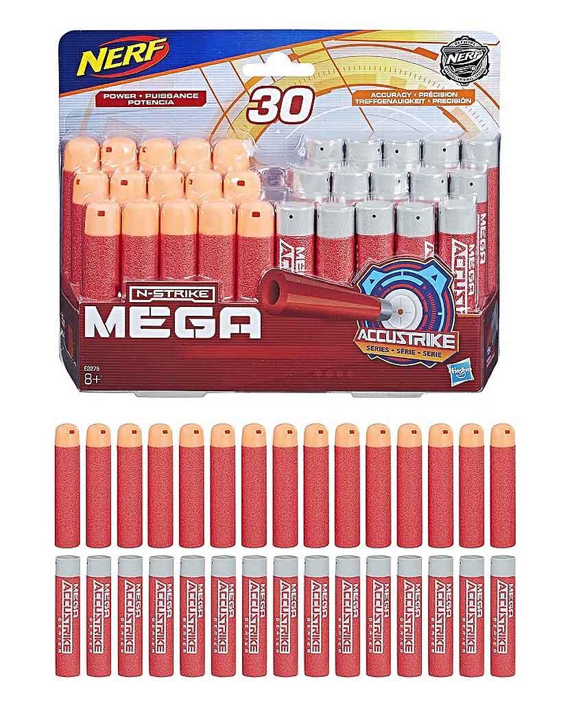 E2275 Игрушка стрелы Hasbro Nerf НЁРФ МЕГА 30 штук: комбо