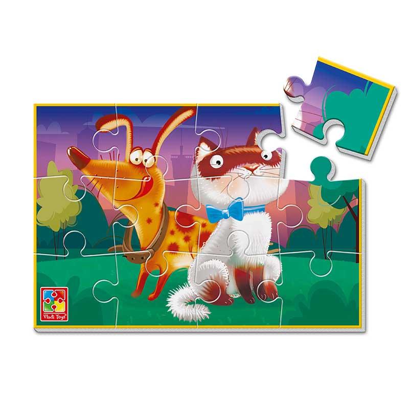 VT1103-86 Мягкие пазлы Кот и собака А5