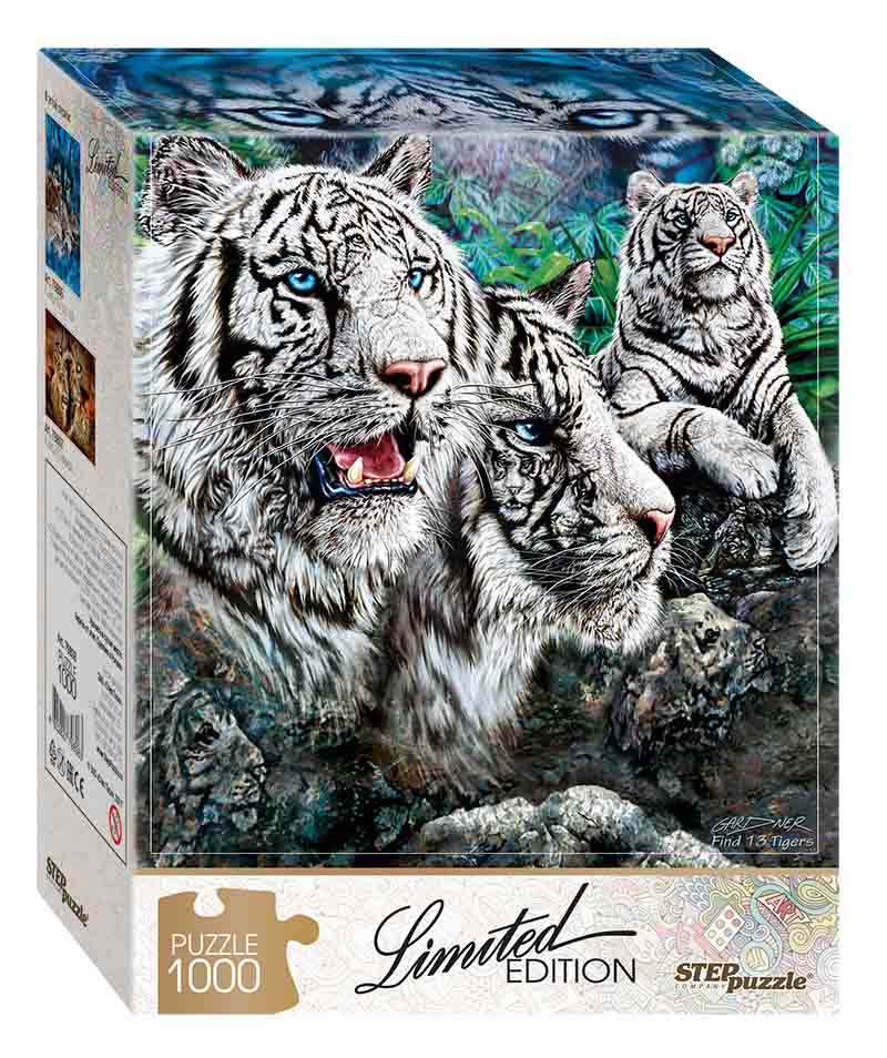 """79808 Мозаика """"puzzle"""" 1000 """"Найди 13 тигров"""""""