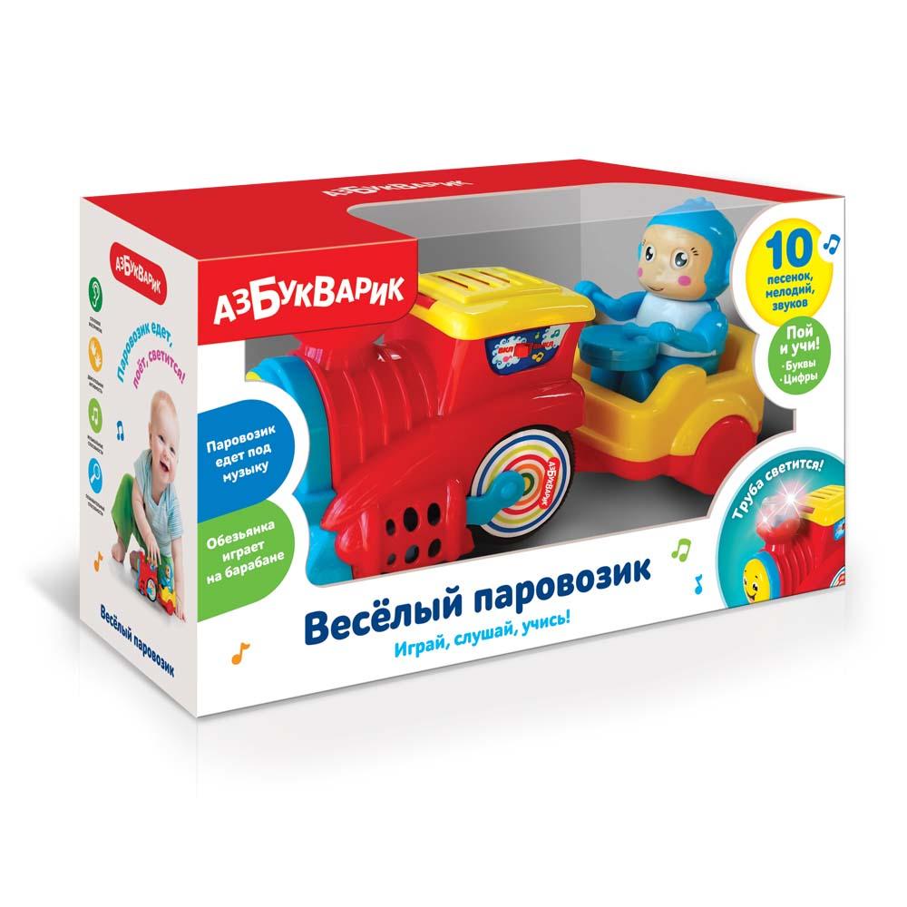 4286 Веселый паровозик Красный 2584А