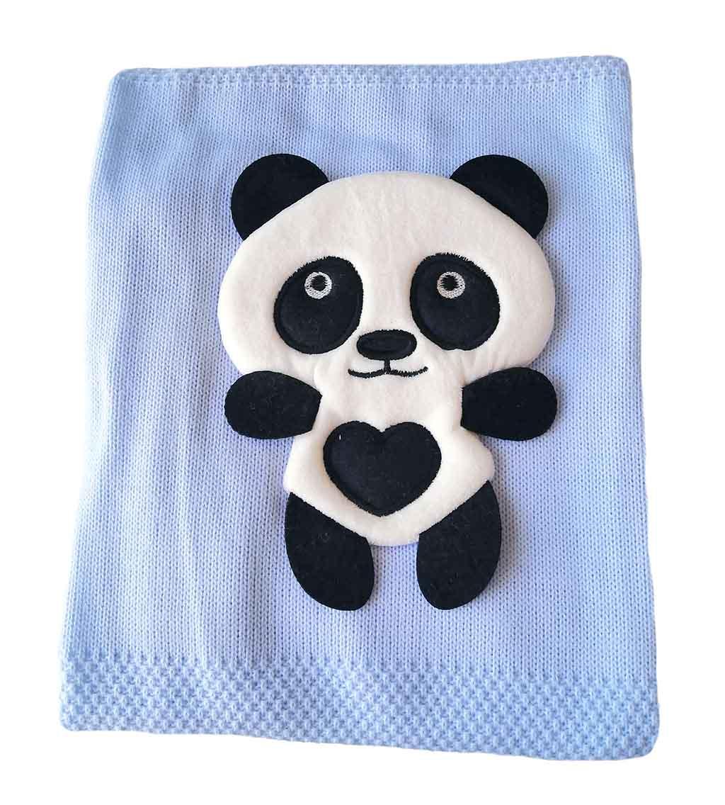 Плед вязка 1001 Панда
