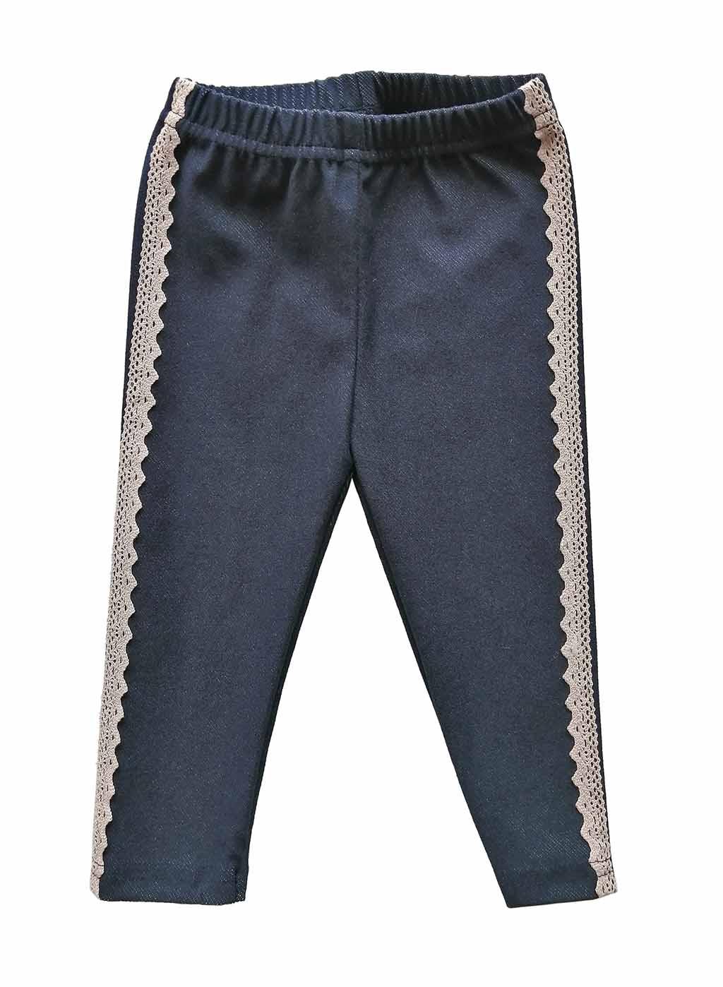 20720 Лосины-джегинсы с тесьмой (68-116 джинс)