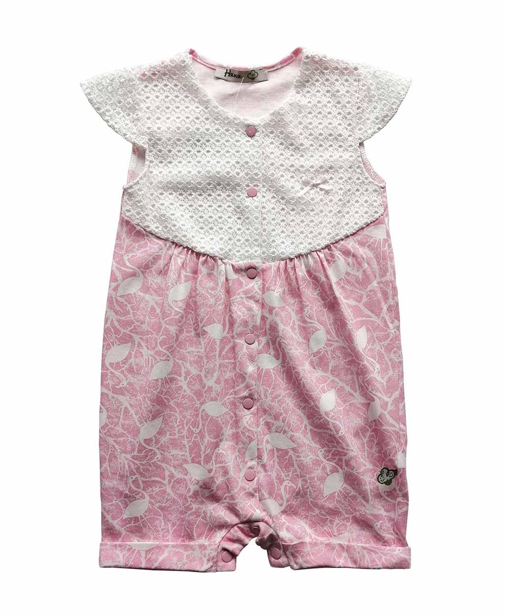 19664 Песочник д/девочки Фламинго (62-80 кулир, кружево)