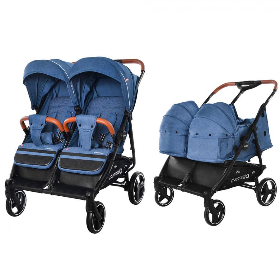 Коляска детская с переноской  CARRELLO CRL-5502/1 Connect Evening Blue