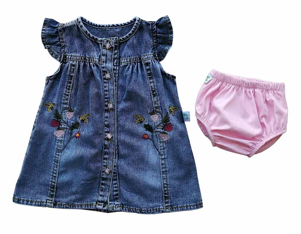 Платье джинс с трусами 1622 (6-18мес)