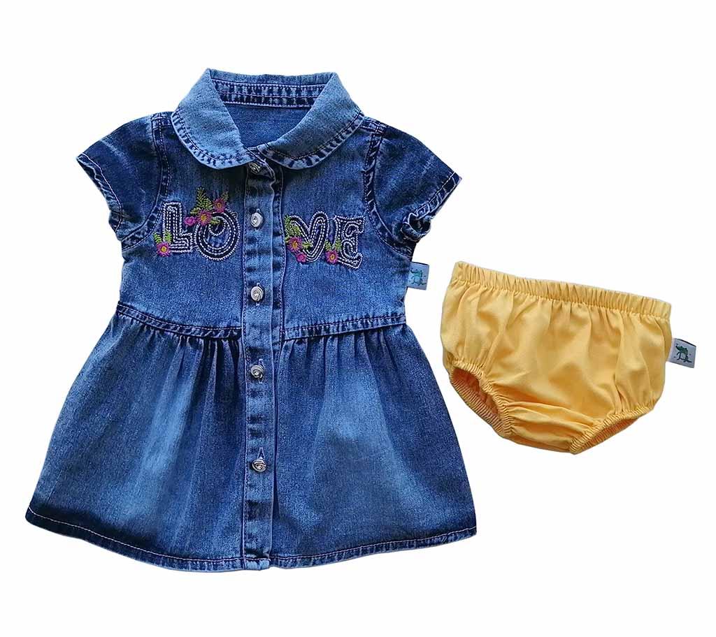 Платье джинс с трусами 1618 (6-18мес)