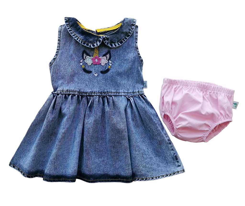 Платье джинс с трусами 1620 (6-18мес)