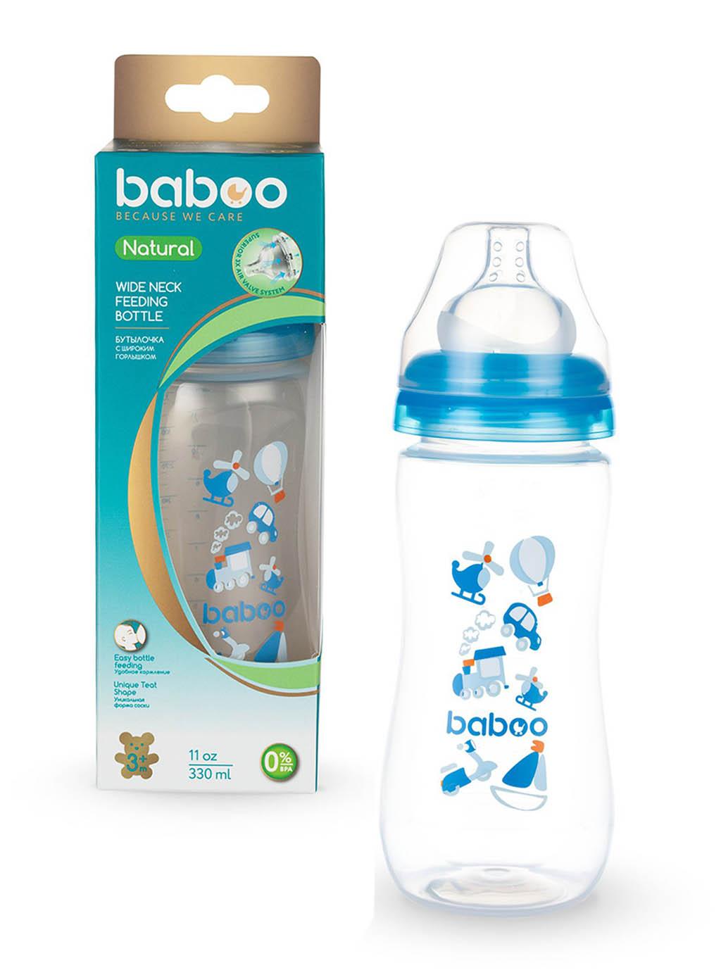 3-108 BABOO Бутылочка с соской силик. (широкая) 330мл, 3мес+