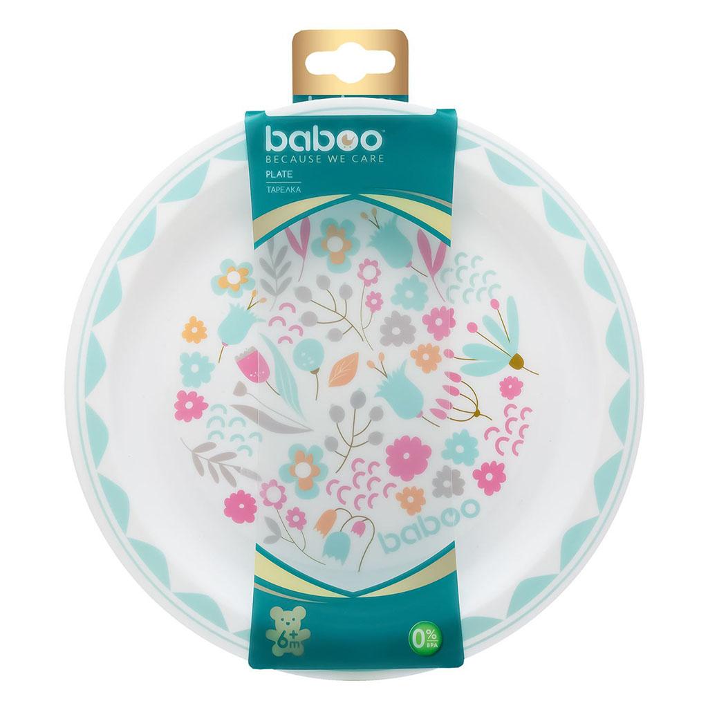 9-018 BABOO Тарелка Flora, 6мес+