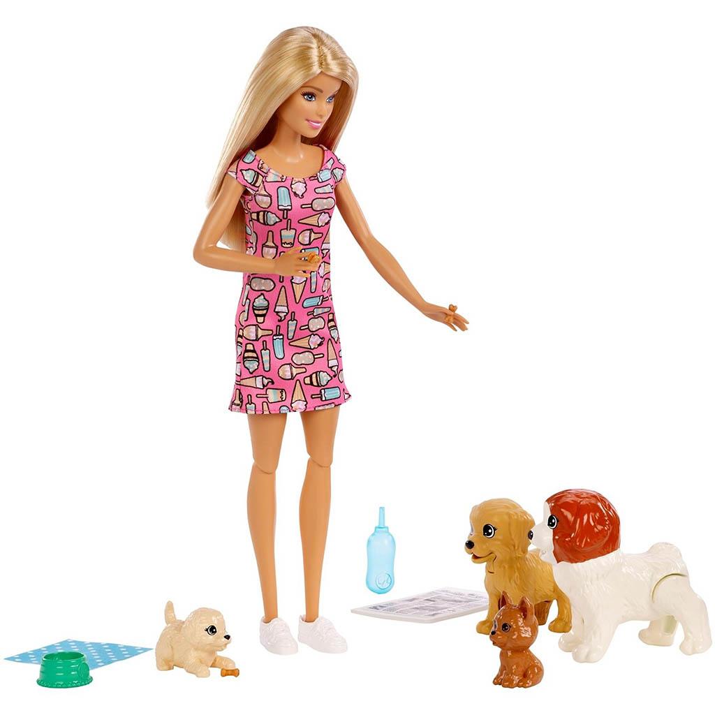 FXH08 Barbie и щенки