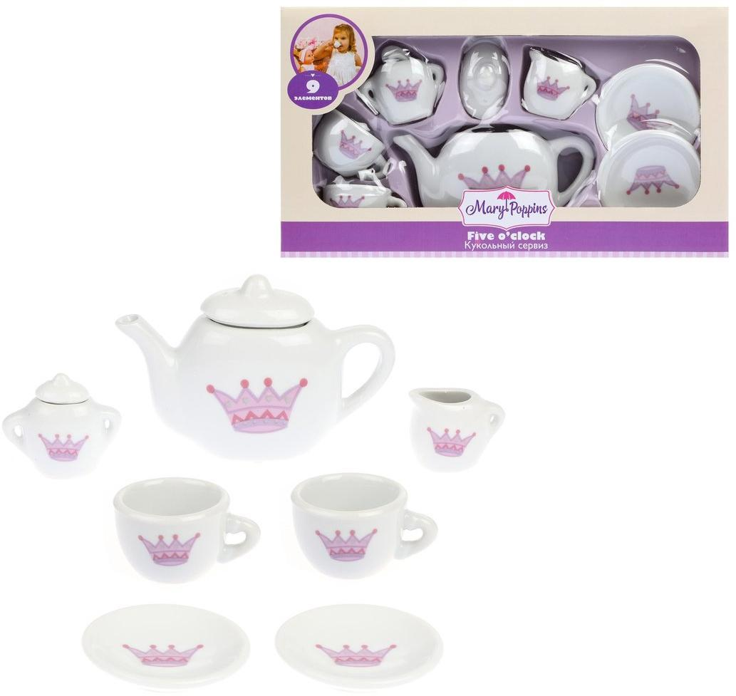 453016 Набор фарф посуды Корона 9пр