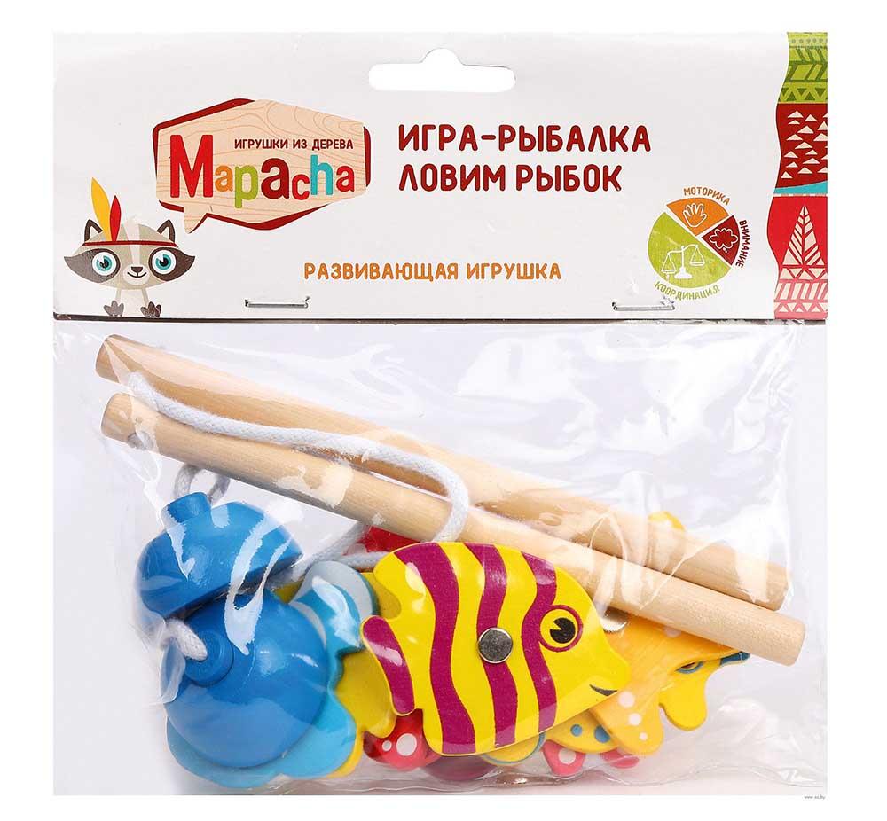 "76630 Игра-рыбалка ""Ловим рыбок"" 10 дет, 2 магнит Удочки"