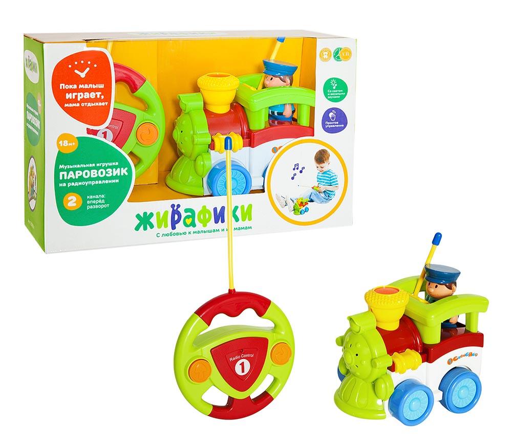 939501 Радиоупр игрушка Паровозик, 2 канала, свет, музыка