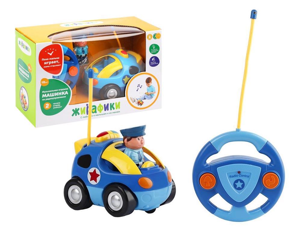 939502 Радиоупр игрушка Полицейская машина, 2 канала, свет, музыка