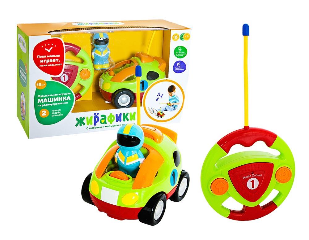939503 Радиоупр игрушка Гонщик, 2 канала, свет, музыка