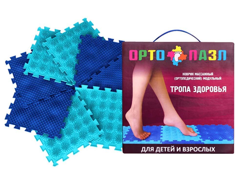 Коврик массажный ортопед модуль ОРТО ПАЗЛ, МИКС Тропа Здоровья