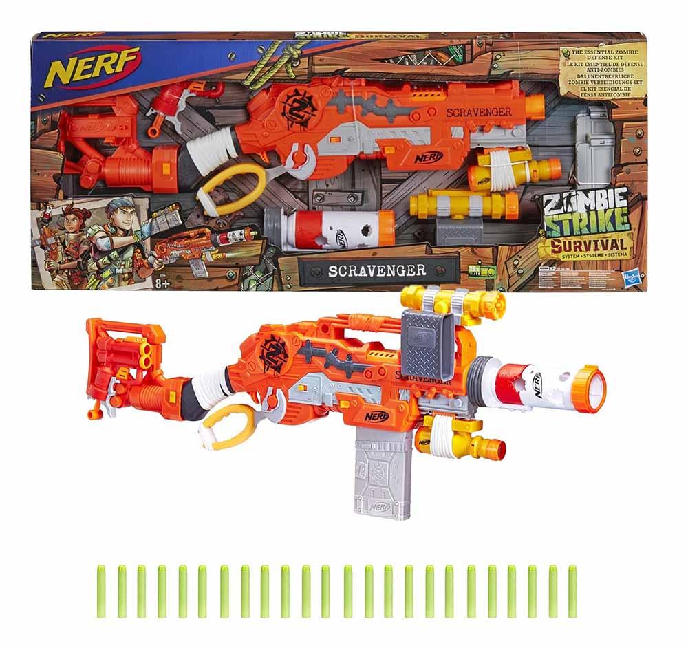 E1754EU4 NERF Игрушка бластер НЁРФ ЗОМБИ Выживший