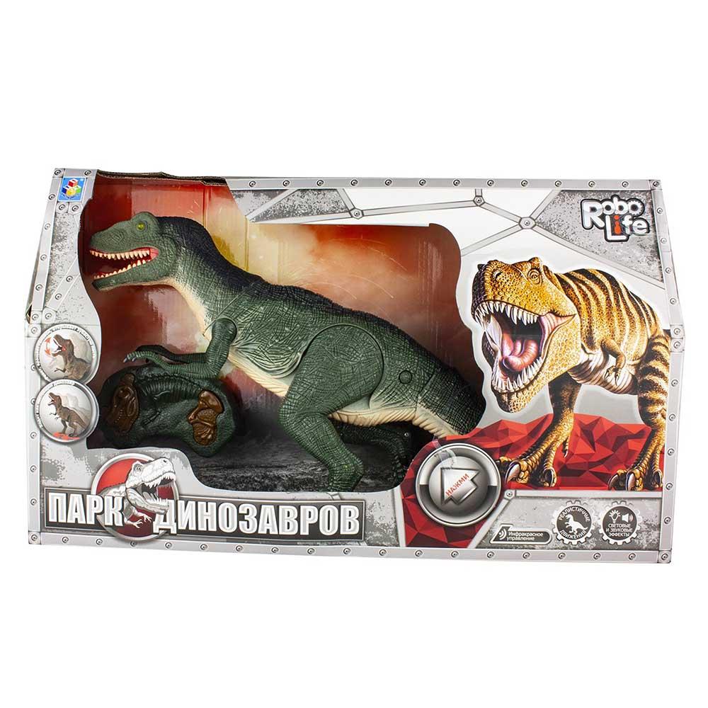 Т16705 1toy, игрушка интерактивный Динозавр ИК пульт