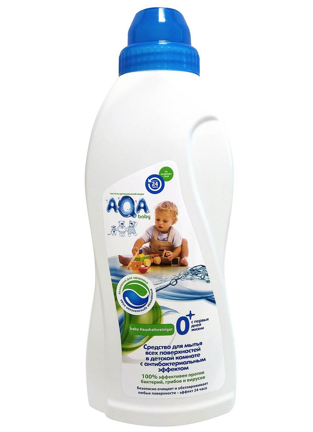 02016403 AQA baby Средство для мытья всех поверхн в детской комнате с антибактер эффект.