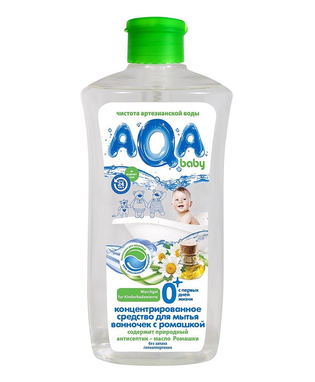 02066401 AQA baby Концентр сред для мытья детх ванночек с ромашкой, 500 мл