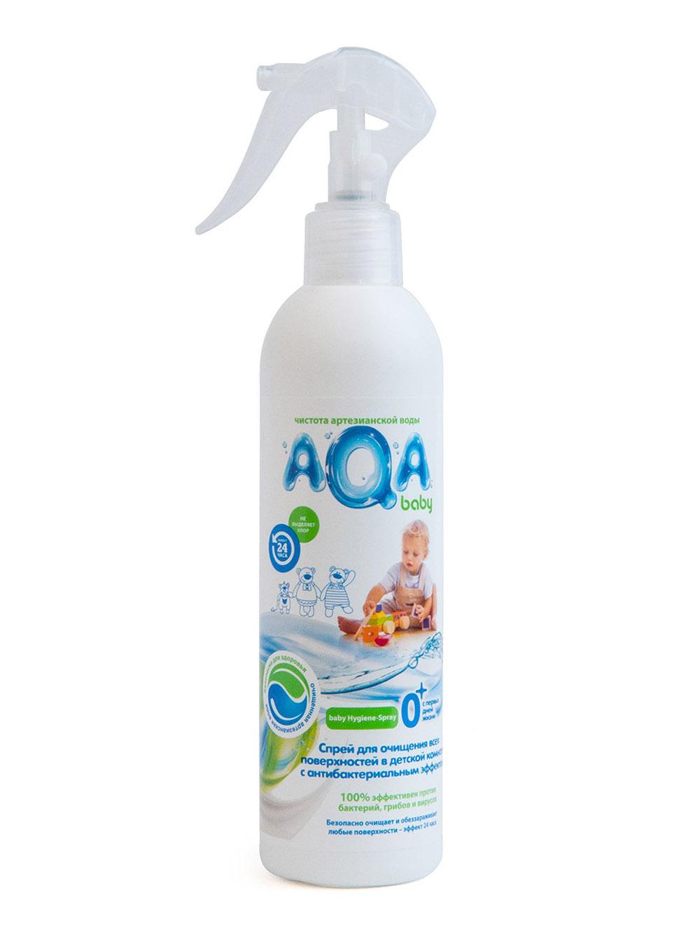 009521 AQA baby  Спрей для очищения всех поверхн с антибактер эффектом 300vk