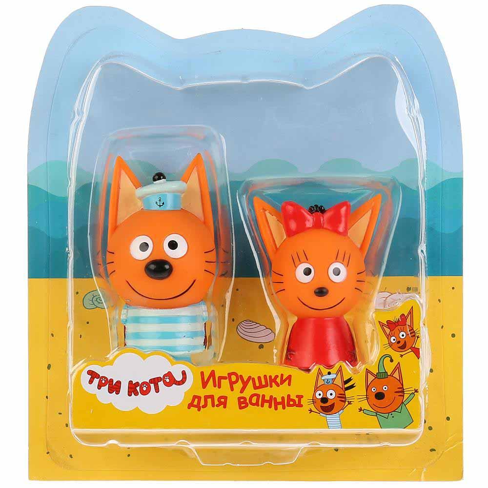 STFT1809-08BL-TC Набор из 2-х игрушек для ванны Капитошка Три Кота, Карамелька+Коржик