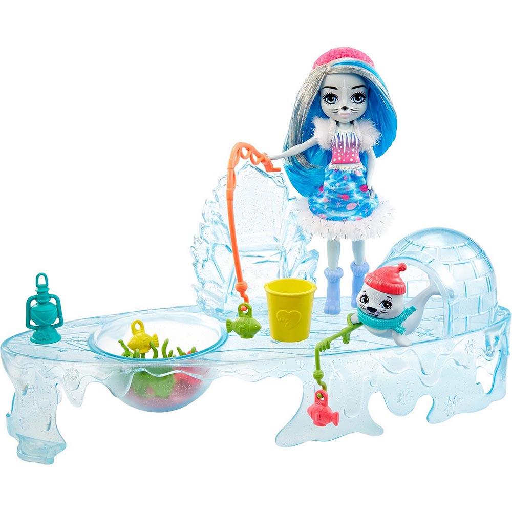 """GJX48 Enchantimals Игровой набор """"Рыбалка на льду"""""""