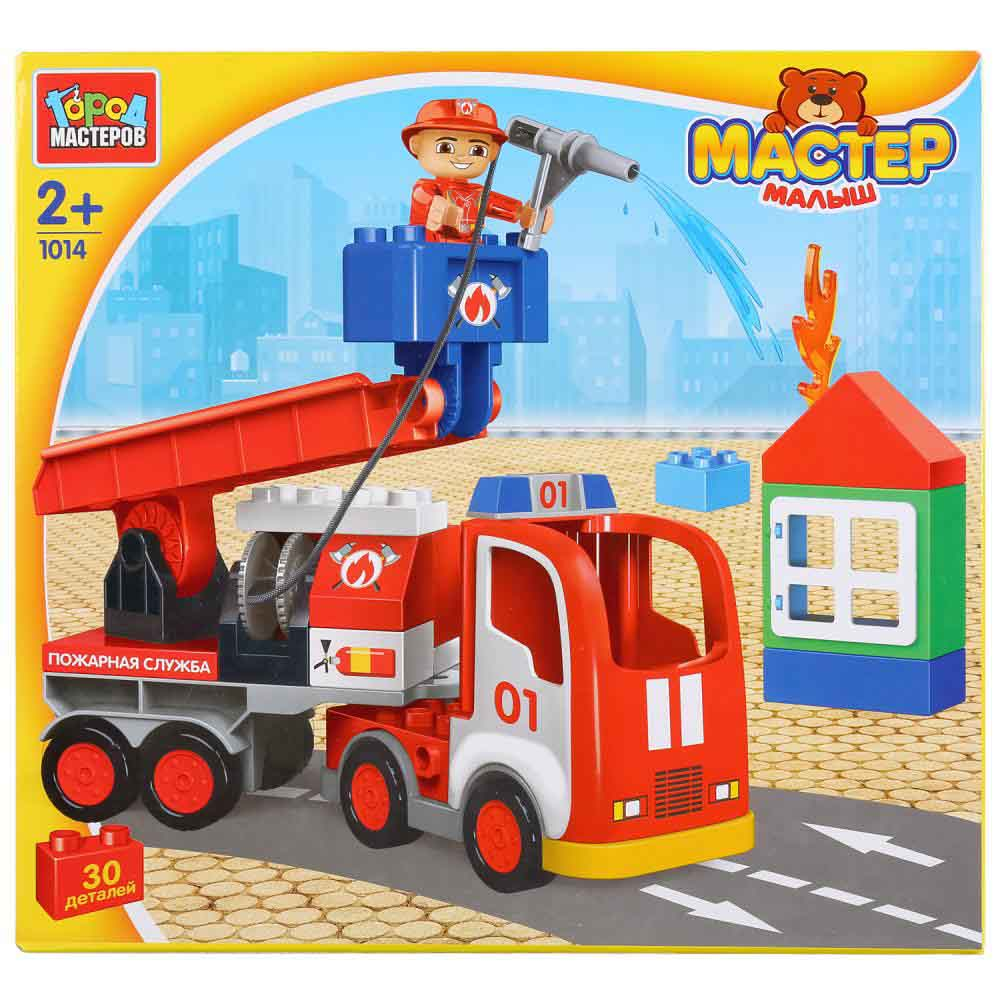 """GK-1014-R Конструктор """"Город мастеров"""" большие кубики: пожарная машина, 30 дет."""