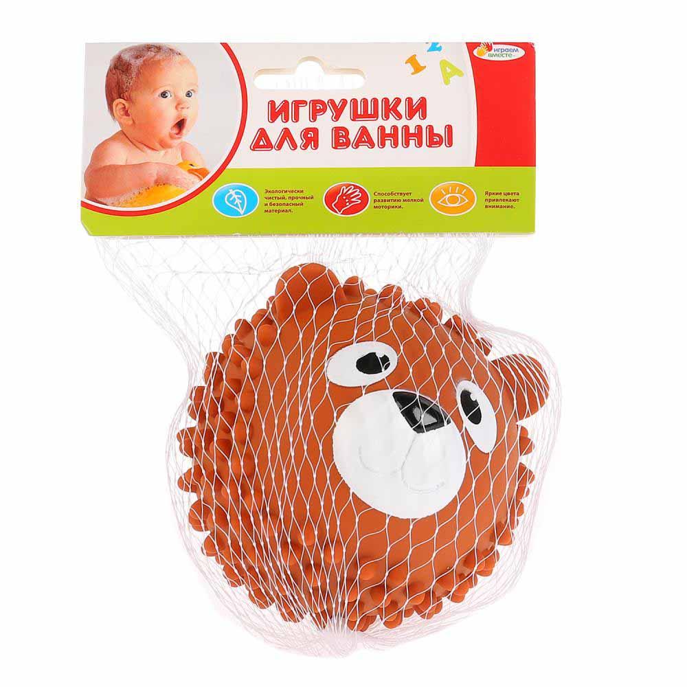"""LX-SB02 Пластизоль для купания """"КАПИТОШКА"""" мячик-медведь, коричневый, 8см"""