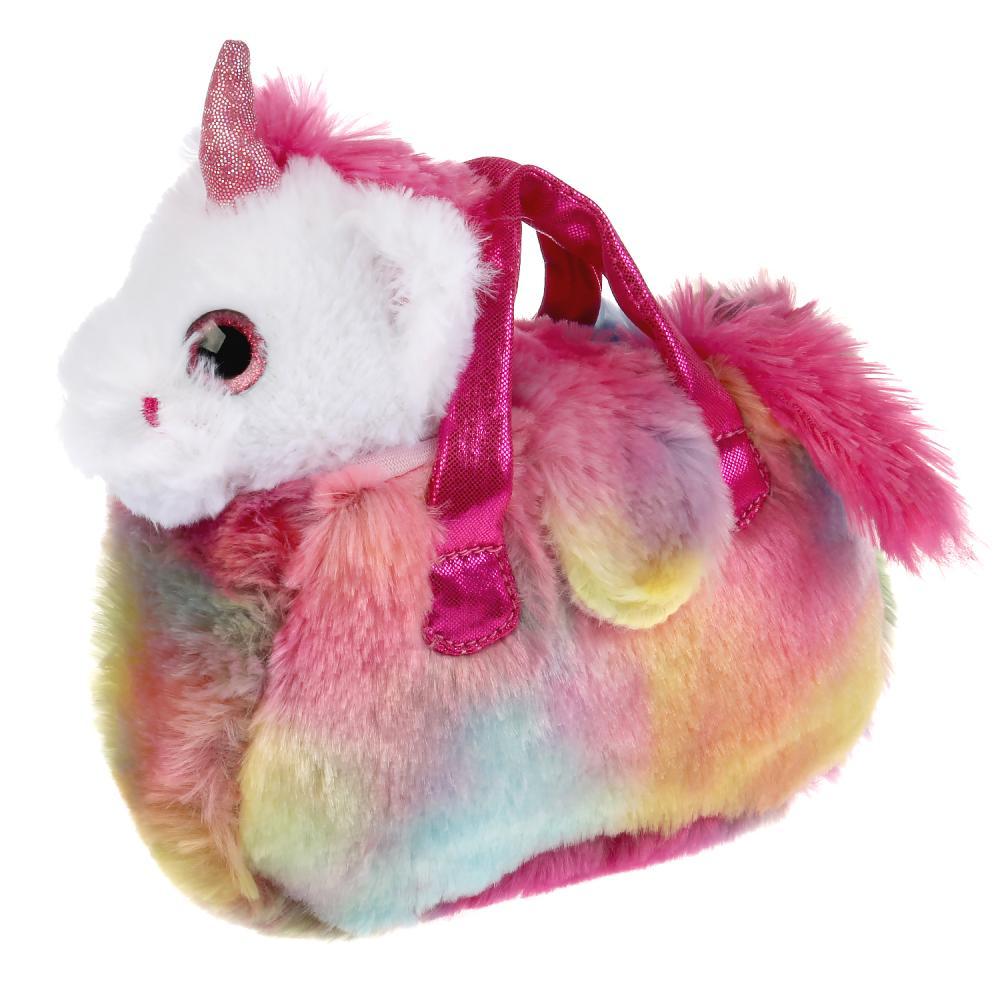 CT-AD191170-19 Мягкая игрушка единорог 15см в радужной сумочке МОЙ ПИТОМЕЦ