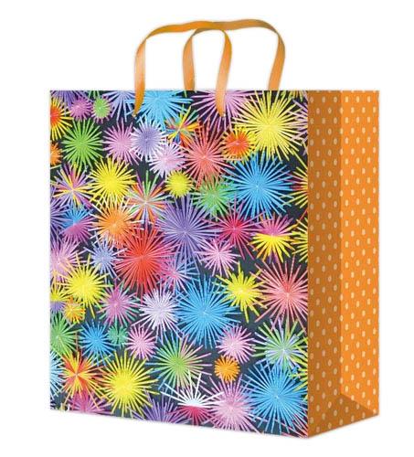 Пакет подарочный Optima с матовой ламинацией 26,4x32,7x8 см  (L) Праздничные огни, 128 г ППД-9861
