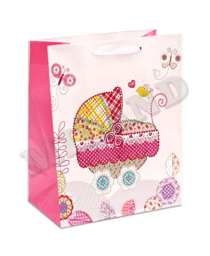 Пакет подарочный С рождением дочери! (M) 12 шт СРД-0155